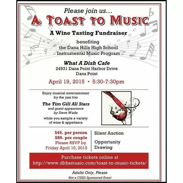 Toast to Music - Wine Tasting Fundraiser benefiting the Dana
