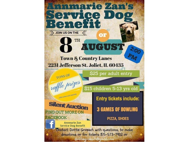fundraiser aug 8 to help joliet woman get service dog romeoville