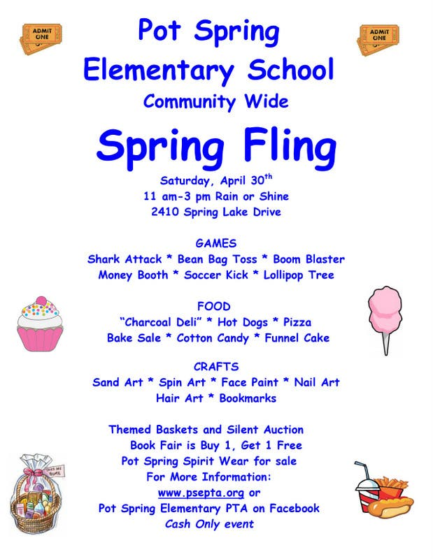 Spring Fling at Pot Spring Elementary | Lutherville, MD Patch