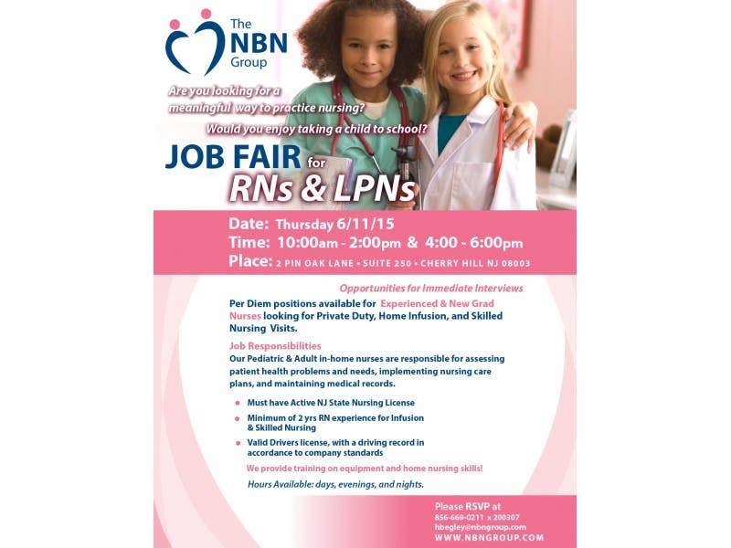 Job Fair For Rns And Lpns Cherry Hill Nj Patch