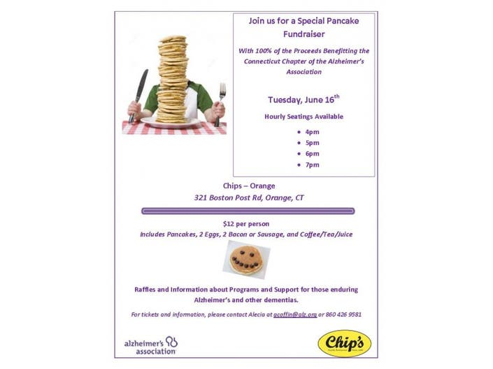 A Stack of Ways to Help the Alzheimer's Association Pancake