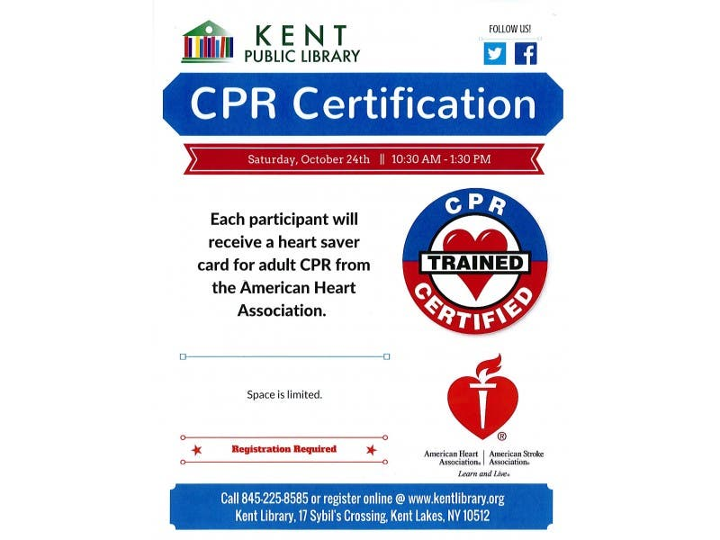 American Heart Association Adult Cpr Course At Kent Public Library