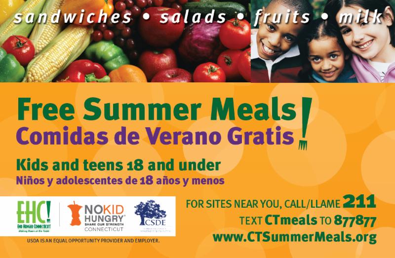 Free Summer Meals Meriden Ct Patch