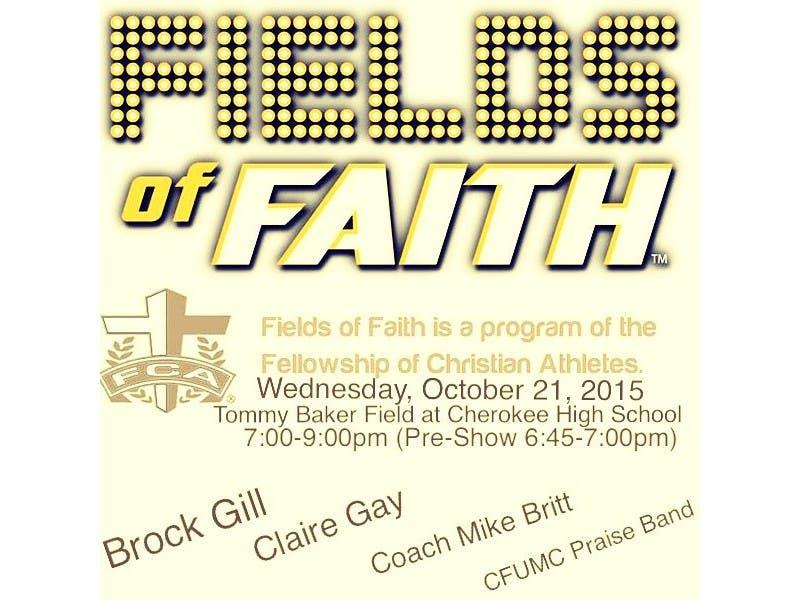 6th Annual Cherokee County Fca Fields Of Faith Returns Next Week