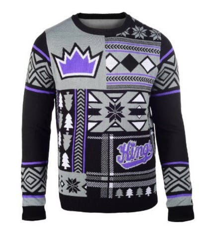 1df10a88b90 Sacramento Kings. Sacramento Kings Patches Ugly Sweater. Check this out -  an ugly Christmas sweater ...