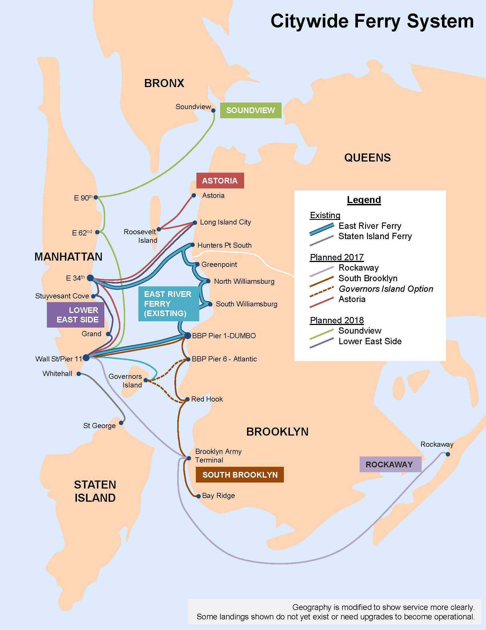 NYC's Fat New Ferry Network Will Stop in DUMBO, Brooklyn