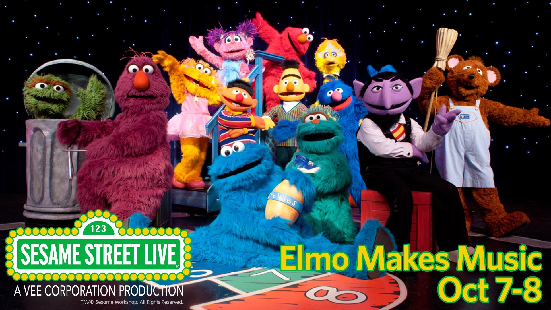 Sesame Street Live Elmo Makes Music Njpac October 7 8