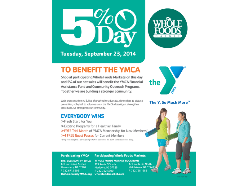 Monmouth County YMCAs and Whole Foods Team Up for Healthy