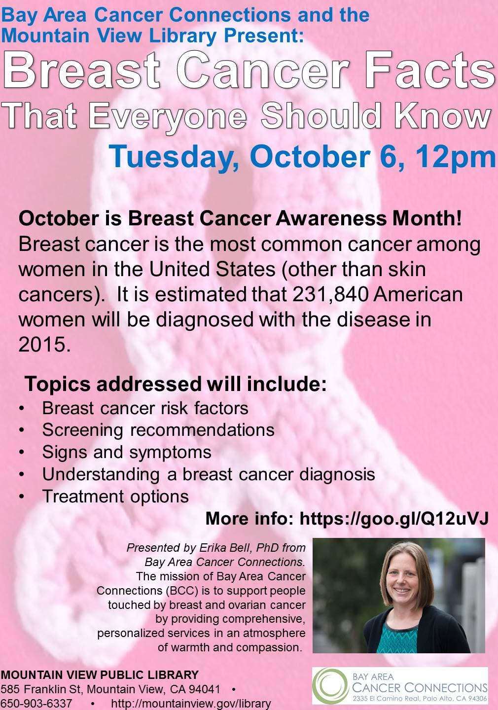 Breast Cancer Facts That Everyone Should Know Mountain View Ca Patch