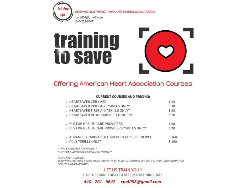Cpr Bls For Healthcare Providers Acls Training Cuyahoga Falls