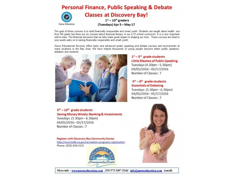 Personal Finance Public Speaking Debate Classes At Discovery Bay