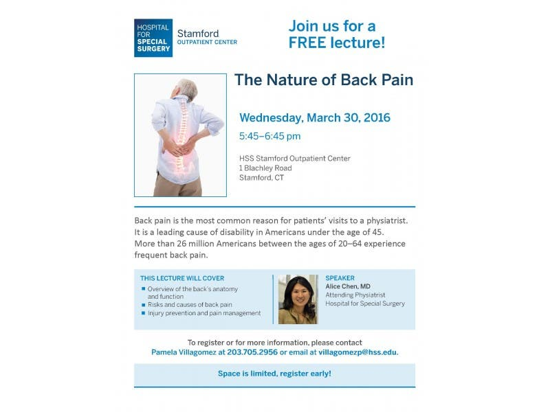 The Nature Of Back Pain Stamford Ct Patch