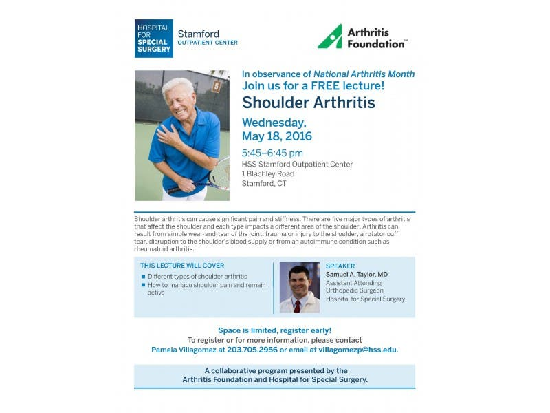 Presentation On Shoulder Arthritis With Dr Samuel A Taylor From
