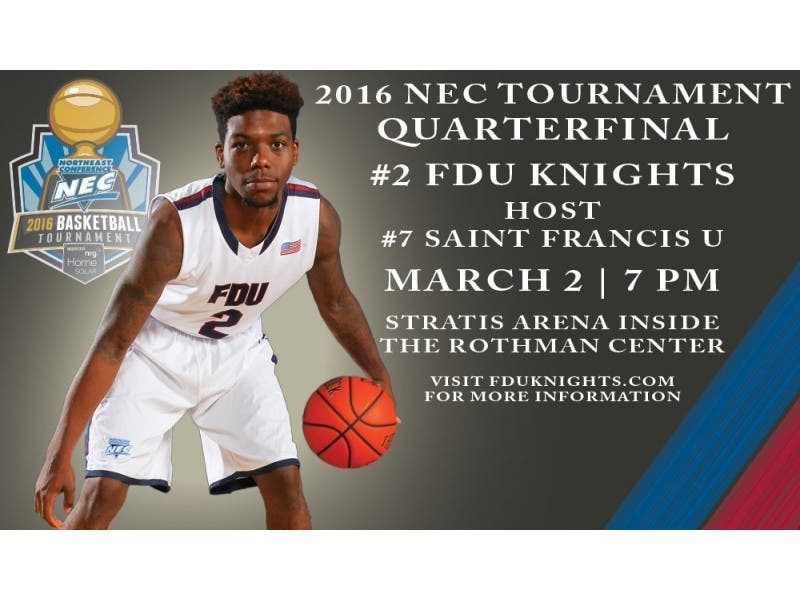 Fairleigh Dickinson To Host Mens Basketball Quarterfinal With Saint