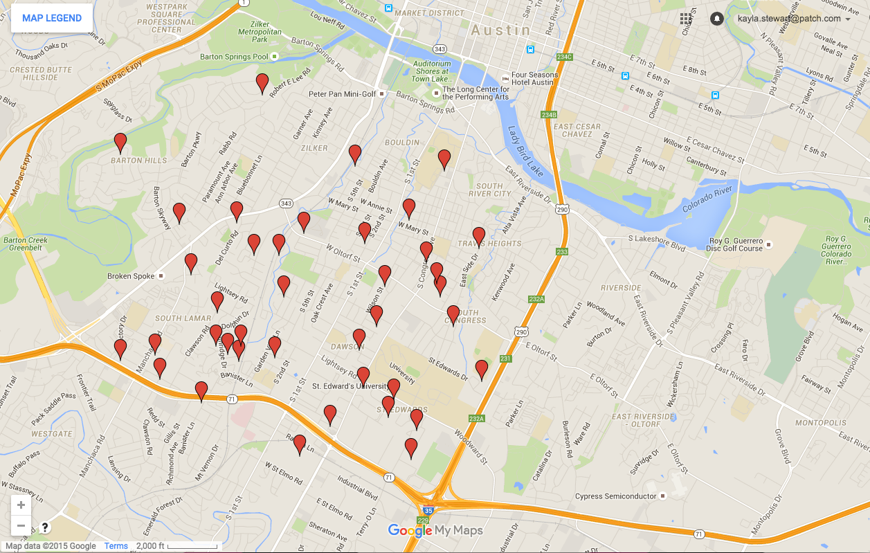 South Austin 2015 Sex Offender Halloween Safety Map South