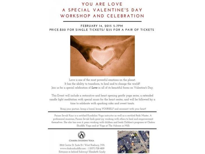 Special Valentine's Workshop at Chakra Shuddhi Yoga on Feb