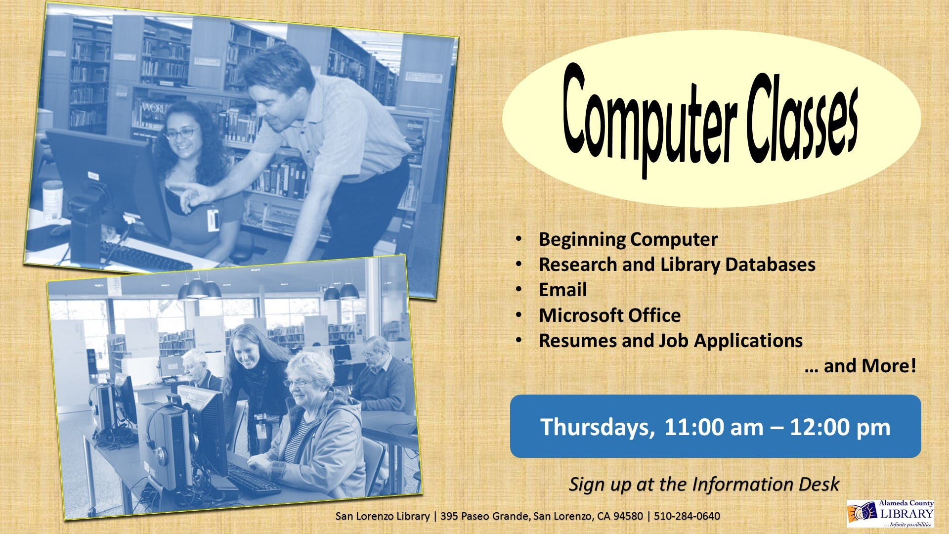 Adult Computer Classes | Castro Valley, CA Patch