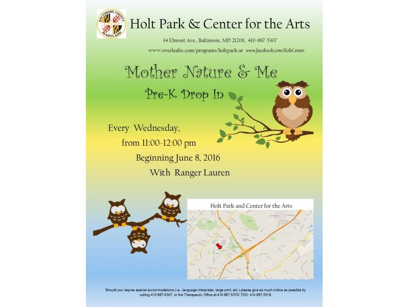 Pre K Drop In Program Mother Nature And Me Essex Md Patch