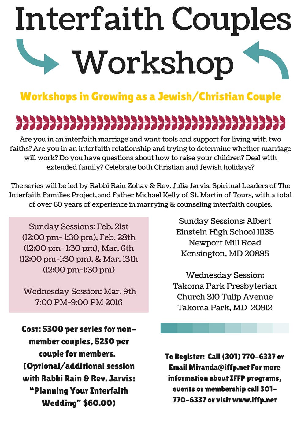 Interfaith Couples Workshop Series | Kensington, MD Patch