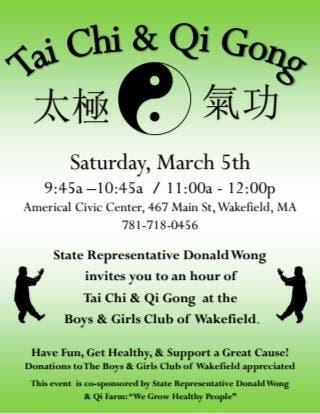 State Rep Donald Wong to Run Free Tai Chi & Qi Gong Class to