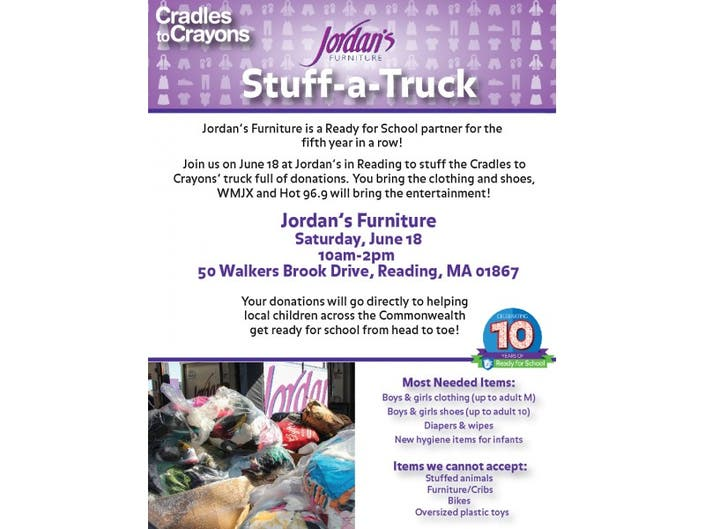 Cradles To Crayons Jordan S Furniture Stuff A Truck North