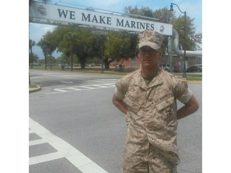 hillsborough firefighter graduates marine corps boot camp