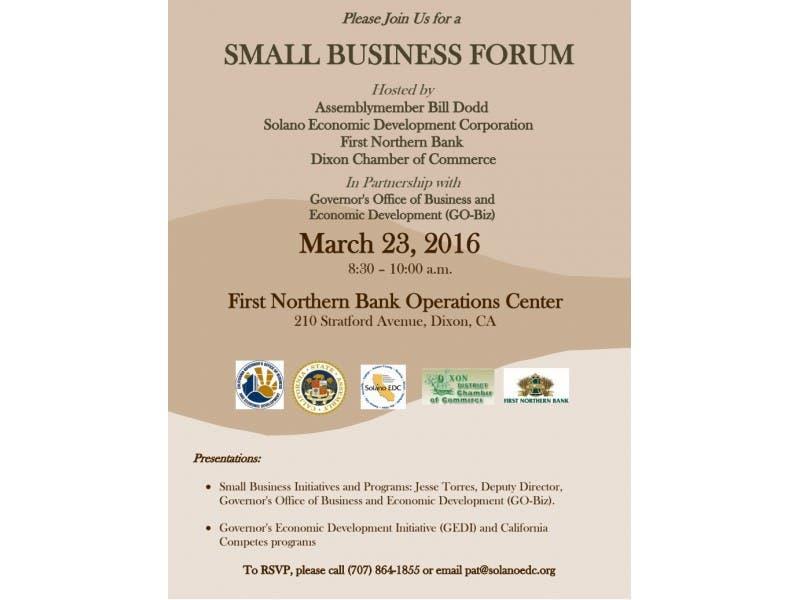 Small Business Forum In Dixon Dixon Ca Patch