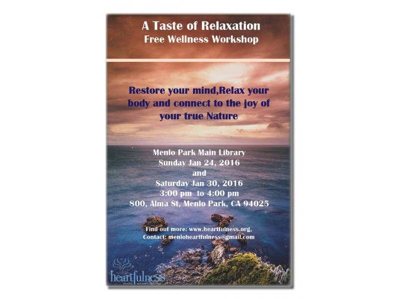 A TASTE OF RELAXATION !! FREE WELLNESS WORKSHOP! | Belmont