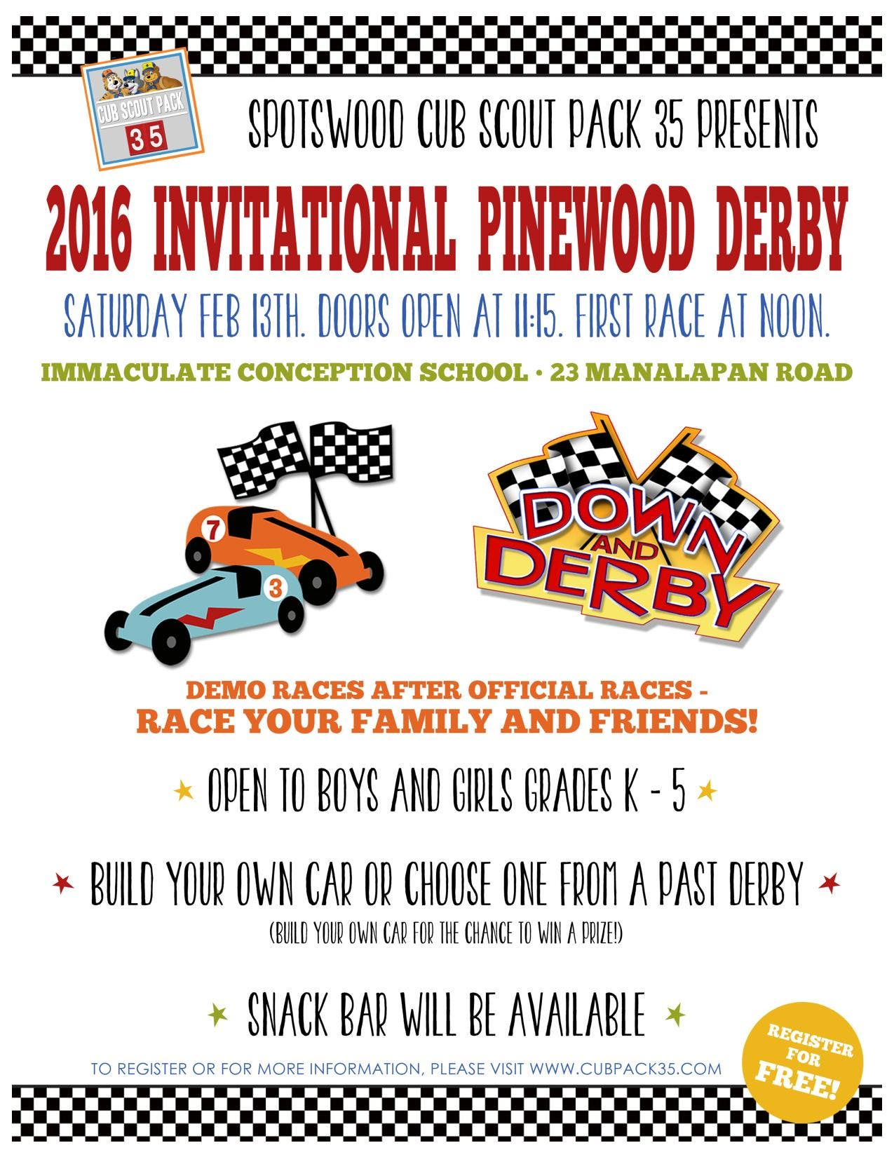 Cub Scout Pack 35 Open Invitational Pinewood Derby East Brunswick