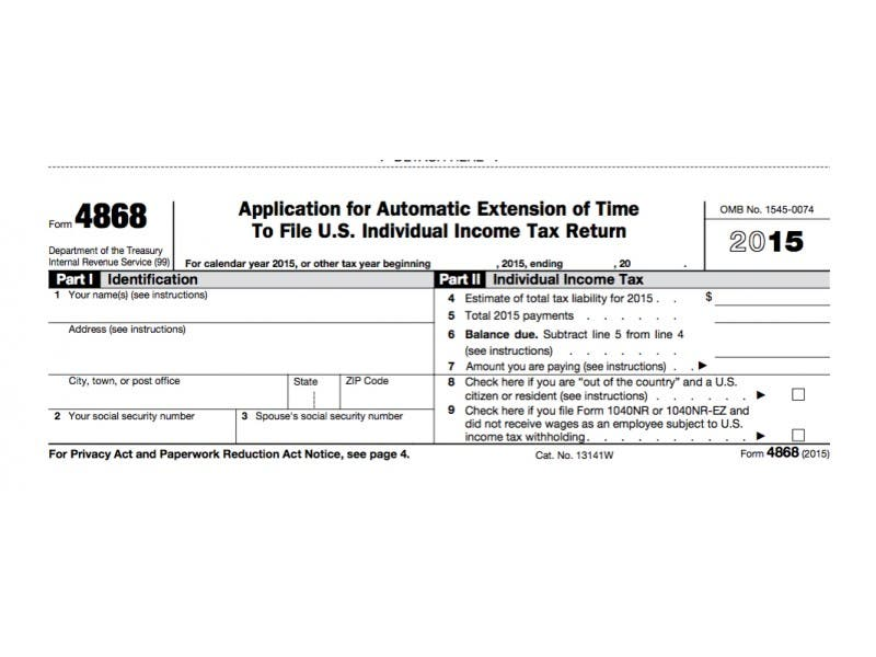 irs form 4868: extension for 2016 tax deadline | oregon city, or patch