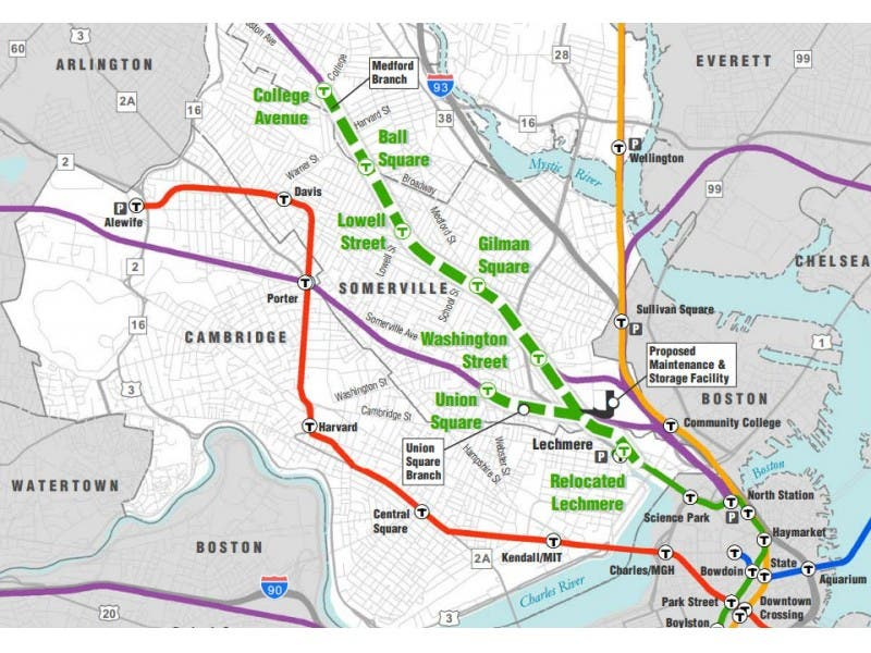 MBTA Releases Revised, $2.3 Billion Green Line Extension Proposal ...