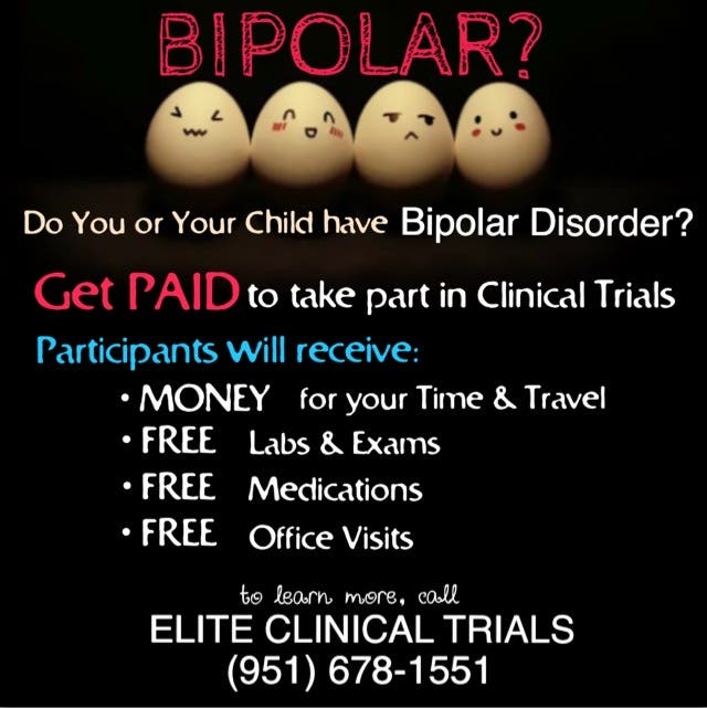 Do you Have Bipolar Disorder? Get PAID to take part in