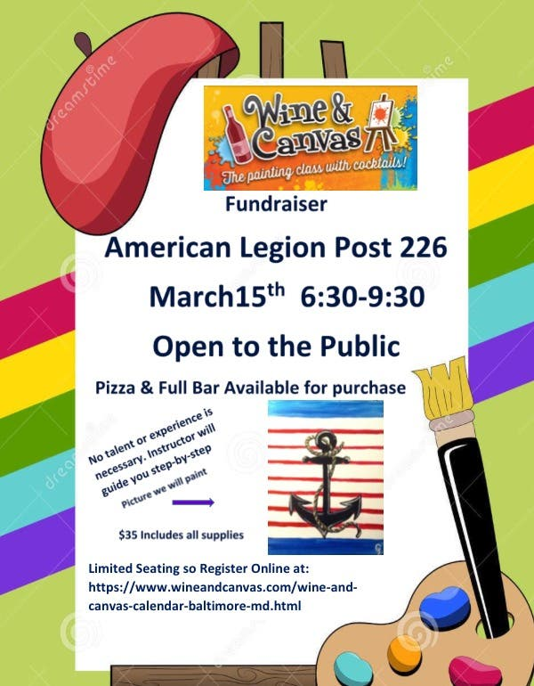 American Legion To Host Wine And Paint Night Edgewater Md