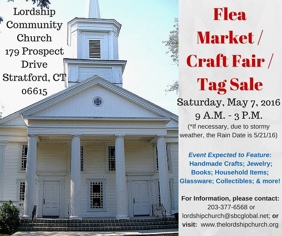Stratford Church to Hold Flea Market Tag Sale   Stratford