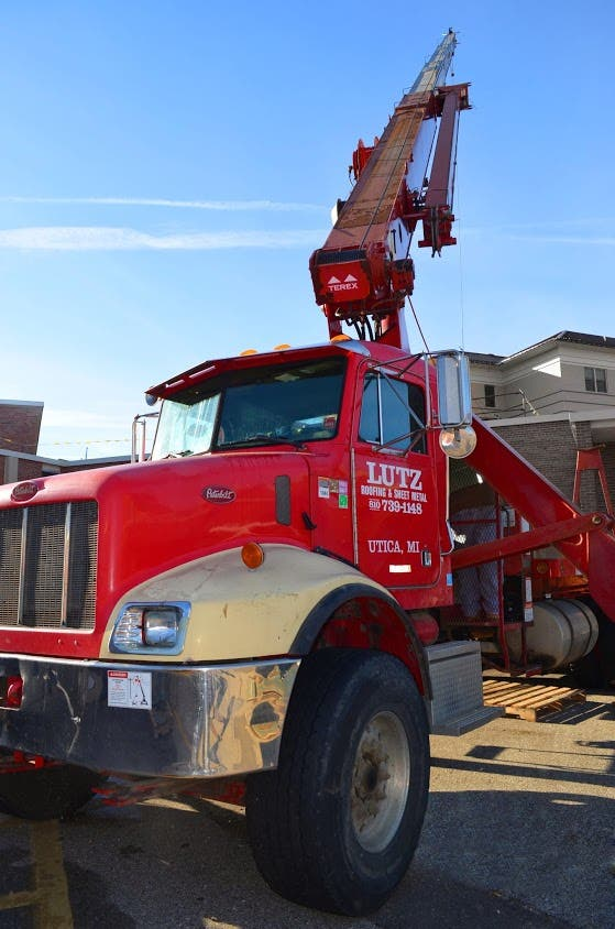 Michigan Commercial Roofer Lutz Roofing Helps Rebuild
