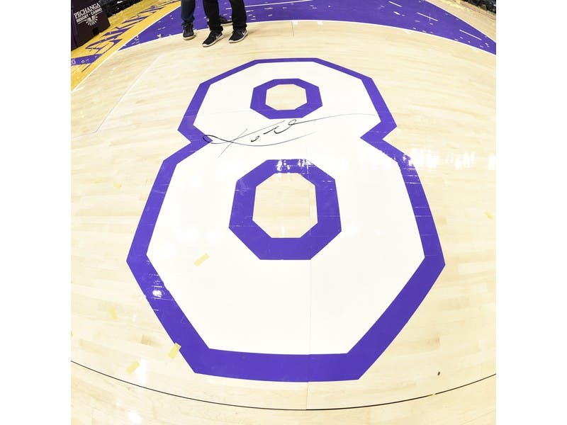 f914f47ad Lakers Auctioning Off Court From Kobe Bryant s Last Game