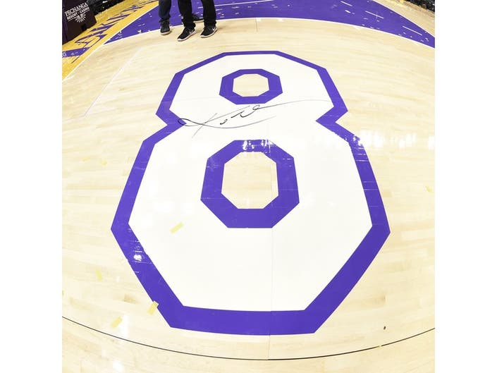113344a1b Lakers Auctioning Off Court From Kobe Bryant s Last Game