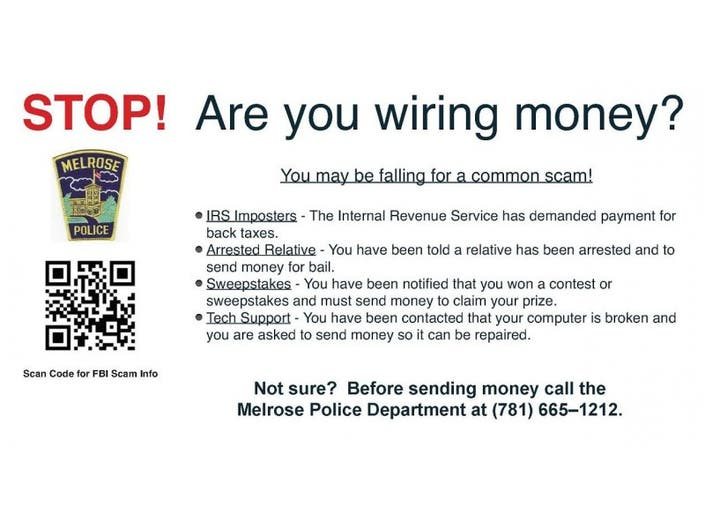 Melrose Police Fight Fraudulent Wire Transfers | Melrose, MA ... on