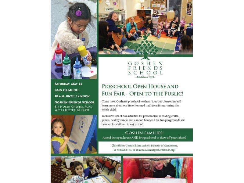 Goshen Friends School to Host Free Preschool Open House and