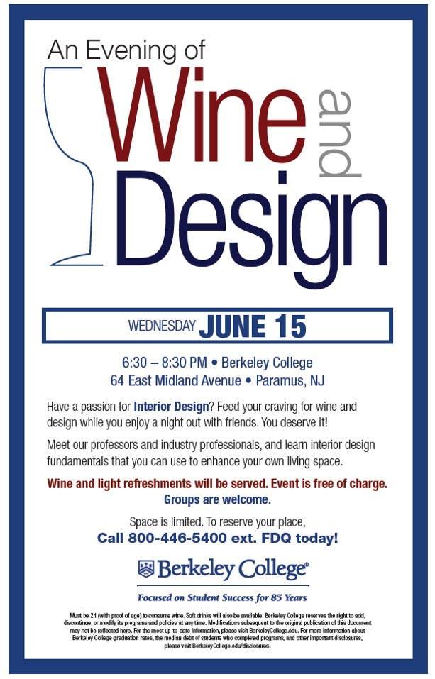 Admirable Wine Design At Berkeley College Paramus Nj Patch Home Interior And Landscaping Spoatsignezvosmurscom