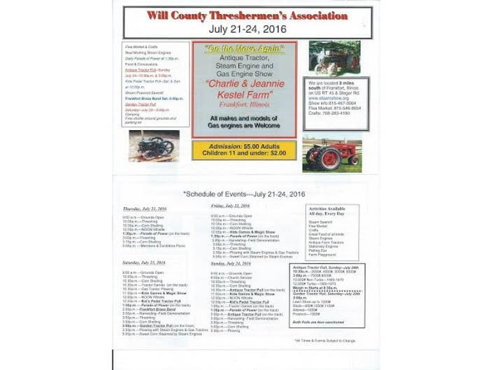 Will County Threshermen S Annual Antique Tractor Steam Engine And Gas Show