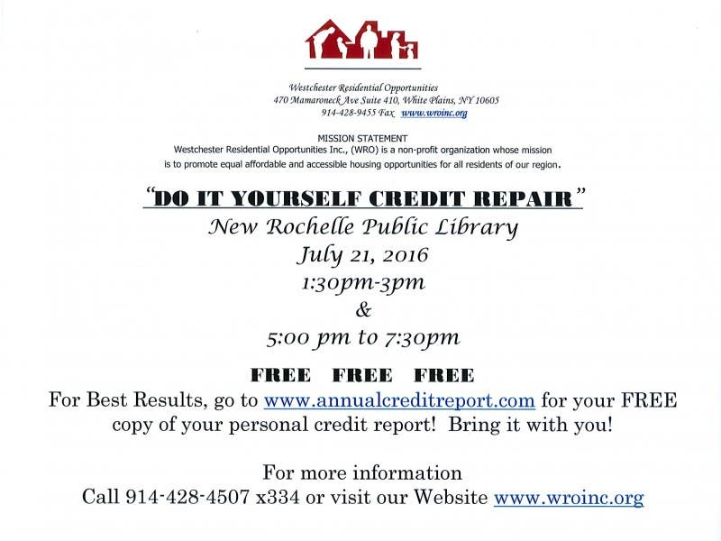 Do It Yourself Credit Repairee Free Free New Rochelle Ny Patch