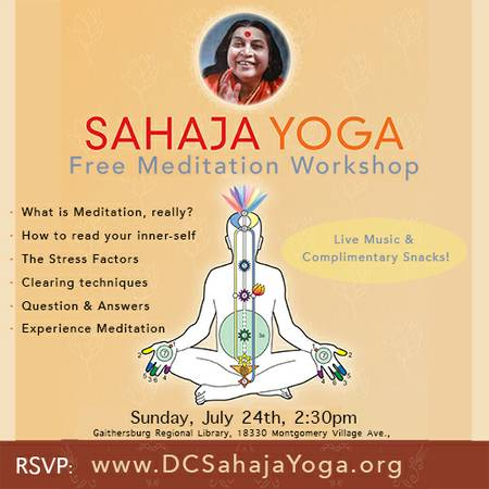 Sahaja Yoga Meditation Introductory Workshop Gaithersburg Md Patch