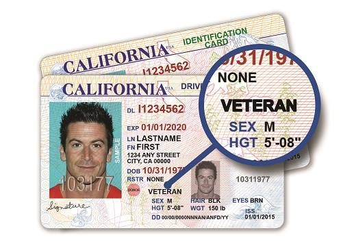 Veteran Rosemont Patch Id Card Launches Ca License Driver California And