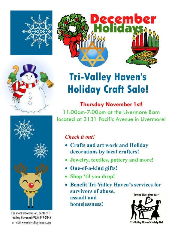 Tri Valley Haven Holiday Craft Fair Livermore Ca Patch