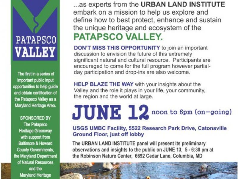 Envision The Future Of The Patapsco Valley Catonsville Md Patch