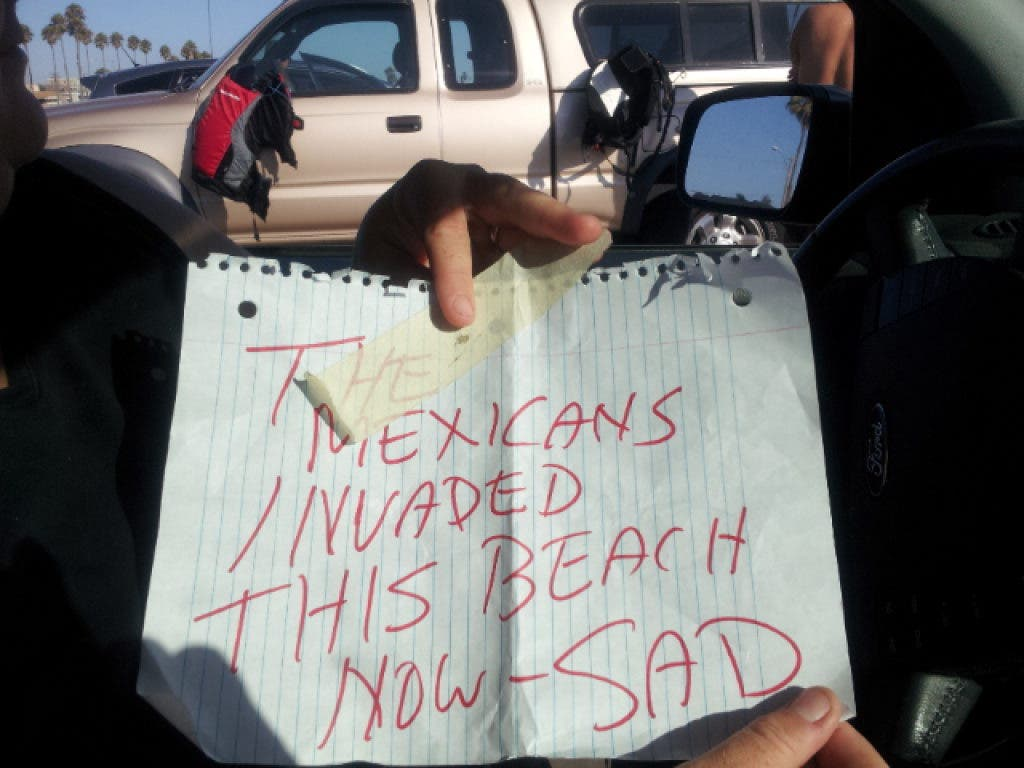 Gay Bashing And Mexican Hate Notes Mar Labor Day Belmont Shore Ca