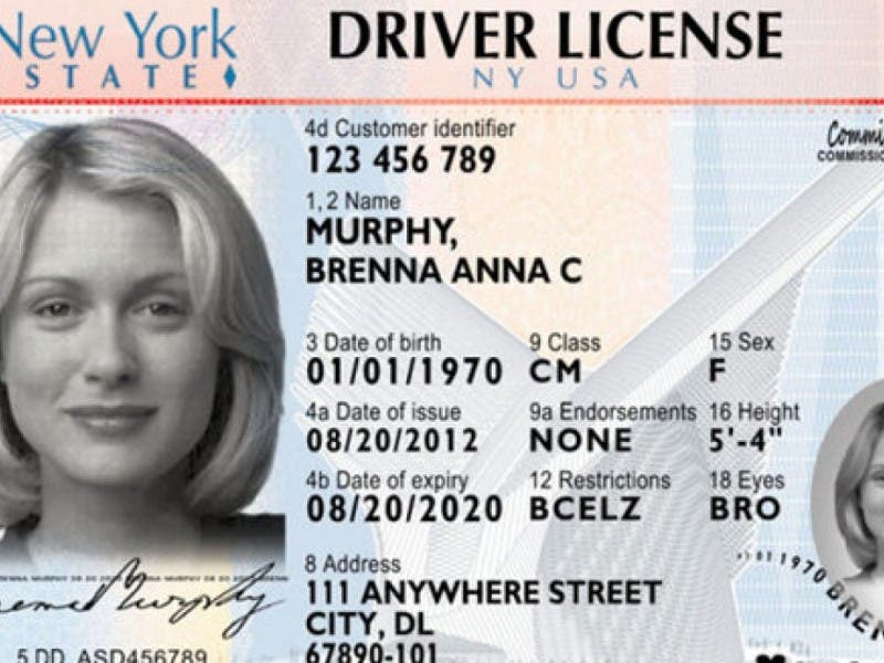 White Farmingdale Ny Going To Drivers' Licenses And State Black Patch