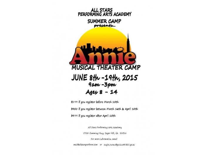474b37ddca02 ANNIE musical theater camp. ALL STARS ...