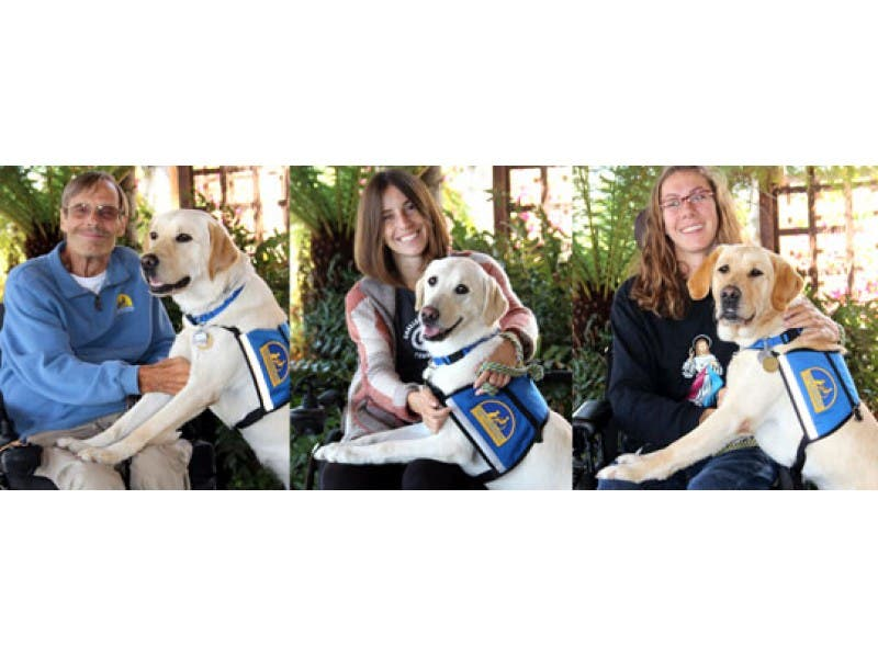 San Diegans With Spinal Cord Injuries Thrive With Service Dogs